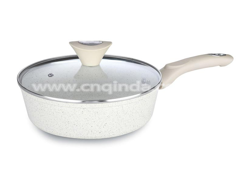 forged deep fry pan with lid